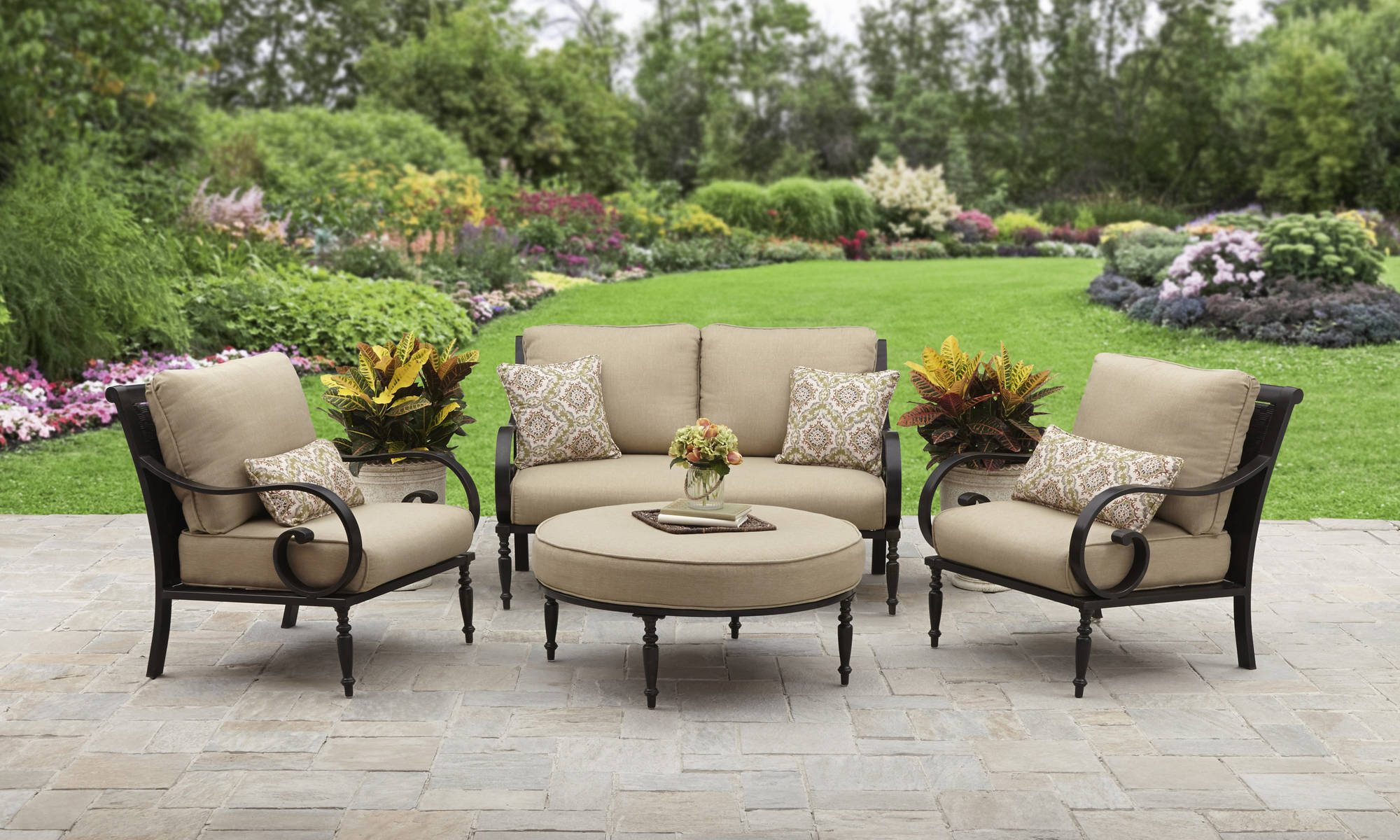 Exceptionnel Better Homes And Gardens Englewood Heights Ii Aluminum 4 Piece For Patio  Furniture