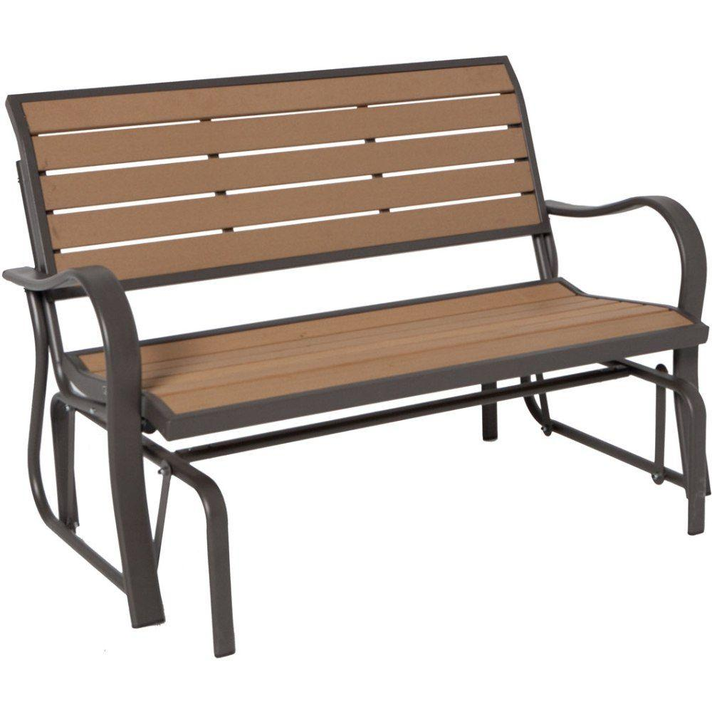 outdoor benches lifetime wood alternative patio glider bench 60055 the home depotoutdoor benches