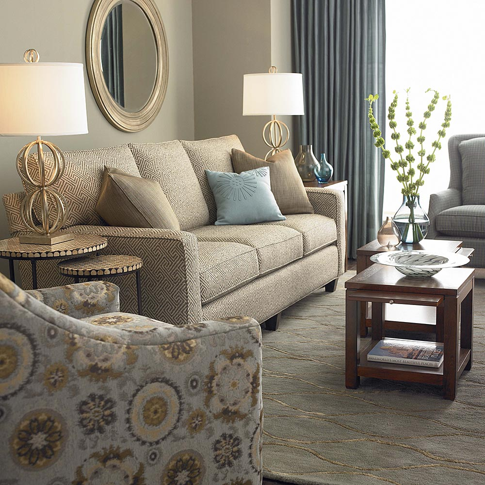Queen Sleeper Couch Upholstered Bassett Furniture throughout Bassett Furniture