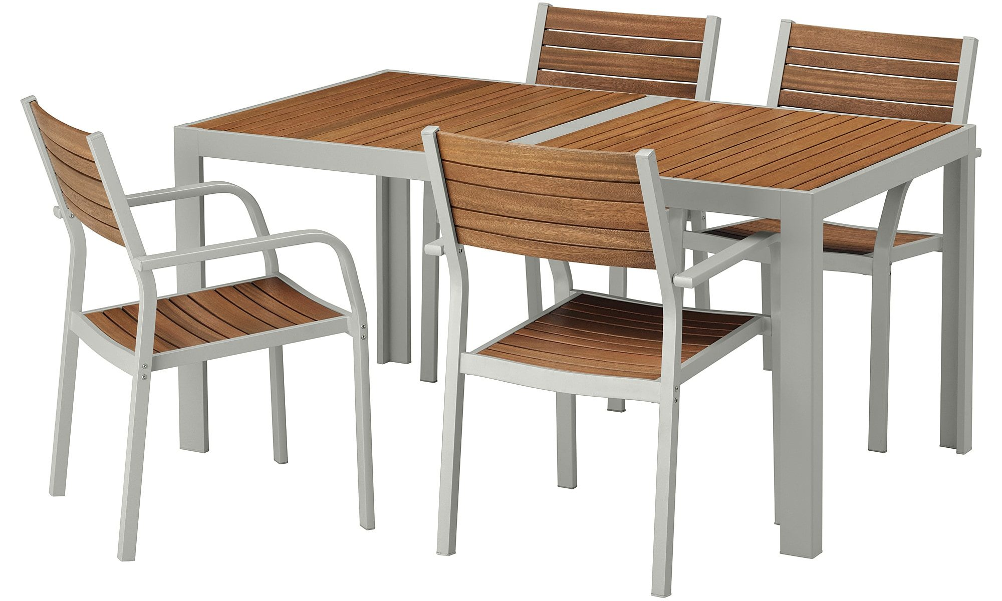 Sjlland Table And 4 Chairs Outdoor Sjlland Light Brownlight with outdoor table and chairs