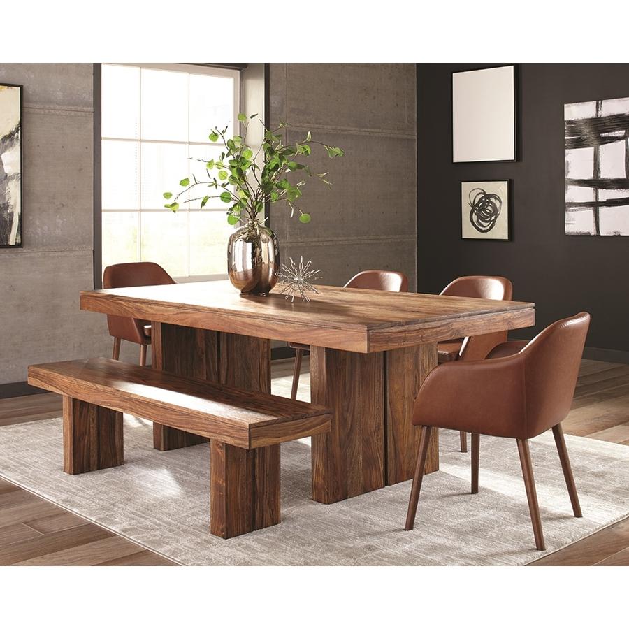 wood dining table shop scott living honey sheesham wood dining table at loweswood dining table